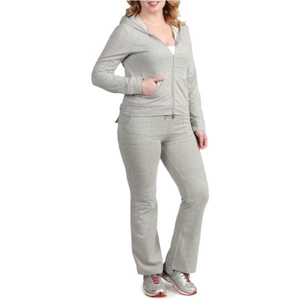 Tabeez Women's Plus Size Hoody Set