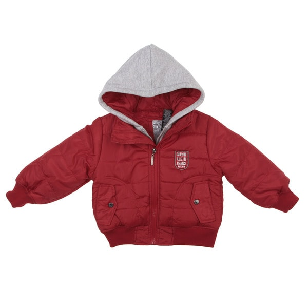 Calvin Klein Toddler Boy's Red Puffer Jacket FINAL SALE