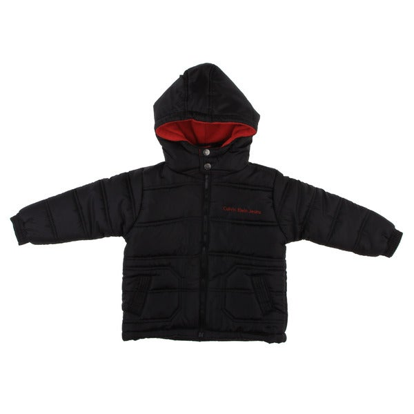 Calvin Klein Boy's Black/ Red Puffer Jacket