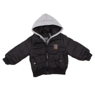 Calvin Klein Boy's Toddler Double Zip Hooded Jacket