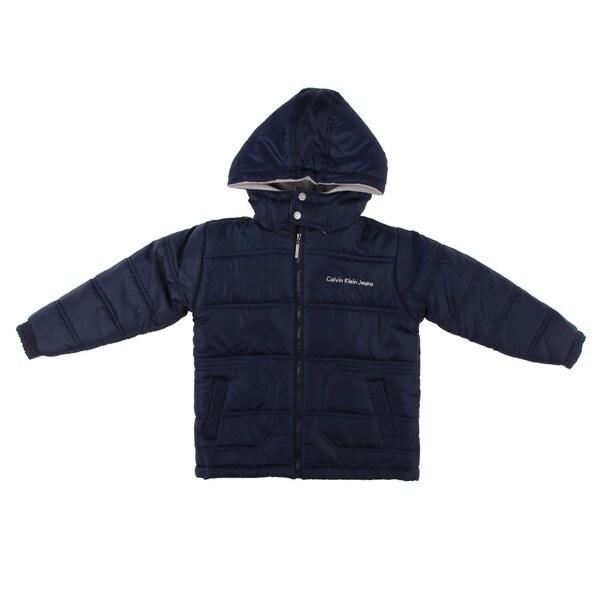Calvin Klein Boy's Navy Puffer Jacket