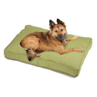 Sweet Dreams Green Indoor/ Outdoor Corded Sunbrella Fabric Pet Bed