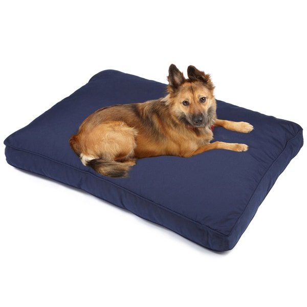 Sweet Dreams Navy Indoor/ Outdoor Corded Sunbrella Fabric Pet Bed