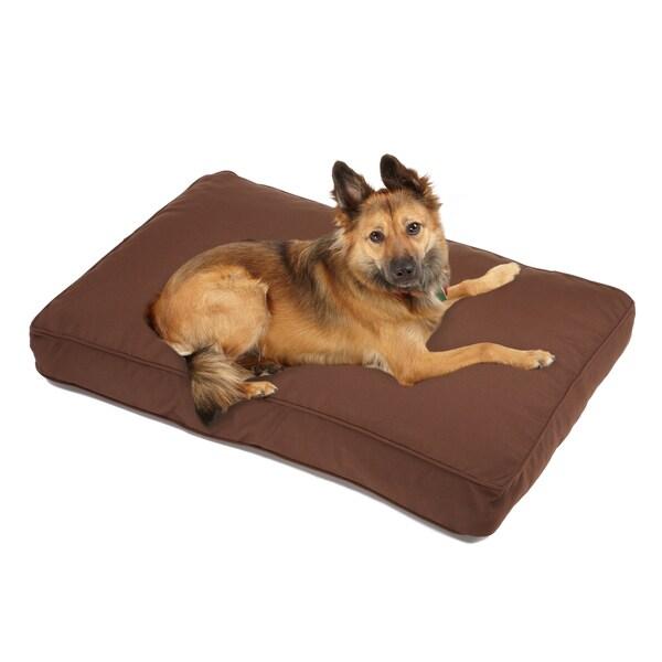 Sweet Dreams Brown Indoor/ Outdoor Corded Sunbrella Fabric Pet Bed