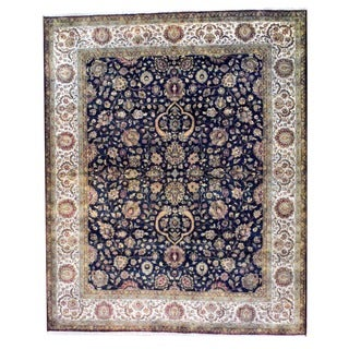 Herat Oriental Indo Hand-knotted Farahan Wool Rug (8' x 10')