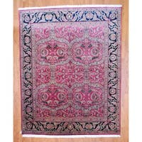 Herat Oriental Indo Hand-knotted Sarouk Wool Rug - 8' x 10'