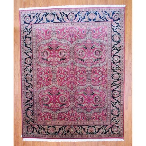 Herat Oriental Indo Hand-knotted Sarouk Wool Rug (8' x 10') - 8' x 10'