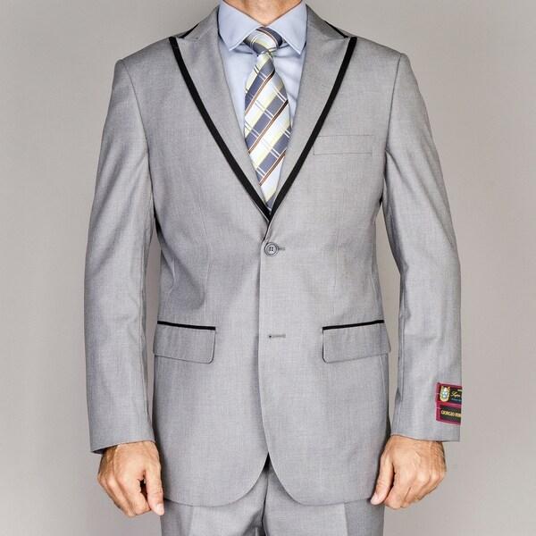 Men's Grey Modern Lapel Suit