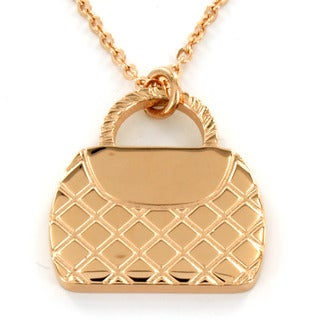 Rose Gold-plated Stainless Steel Handbag Necklace