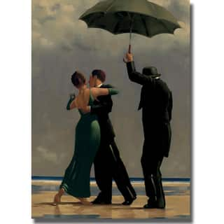 Jack Vettriano 'Dancer in Emerald' Canvas Art