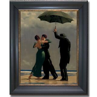 Jack Vettriano 'Dancer in Emerald' Framed Canvas Art