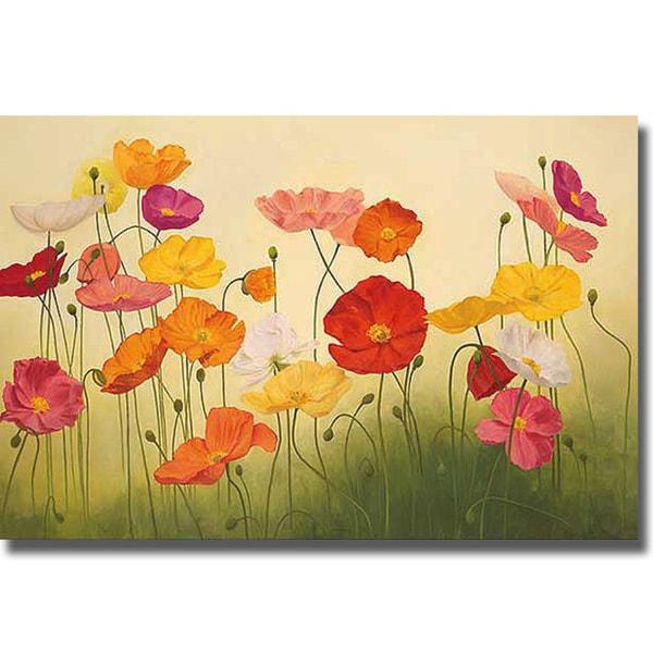 Janelle Kroner 'Sunlit Poppies' Canvas Art