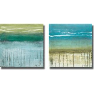 Heather McAlpine 'Shoreline Memories I and II' 2-piece Canvas Art Set