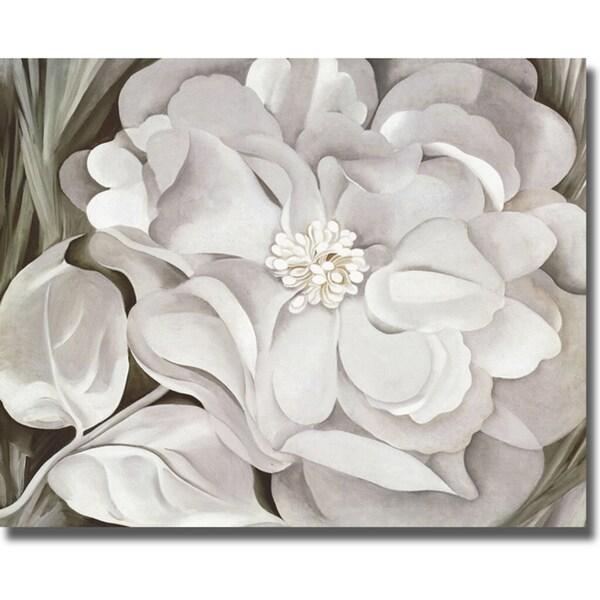 Georgia okeeffe the white calico flower canvas art free georgia ox27keeffe x27the white calico mightylinksfo