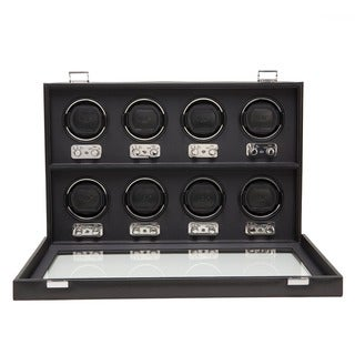 WOLF Heritage Black Faux Leather 8-piece Watch Winder|https://ak1.ostkcdn.com/images/products/7308012/P14778779.jpg?_ostk_perf_=percv&impolicy=medium