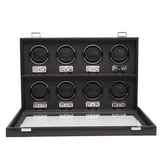 WOLF Heritage Black Faux Leather 8-piece Watch Winder|https://ak1.ostkcdn.com/images/products/7308012/P14778779.jpg?impolicy=medium