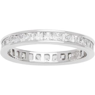 Sterling Silver TGW 3/4 carat Princess-cut Clear Cubic Zirconia Eternity Band|https://ak1.ostkcdn.com/images/products/7308464/P14779080.jpg?impolicy=medium