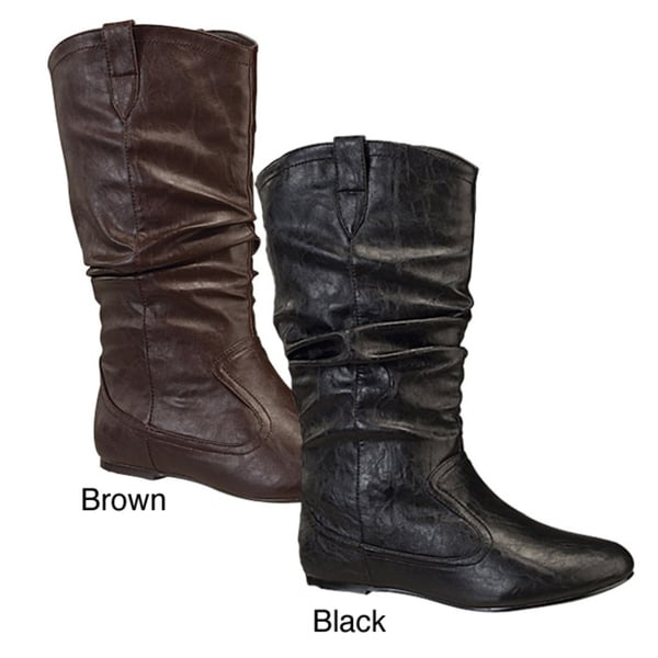 I-Comfort Women's 'Life' Slouch Cowboy Boots