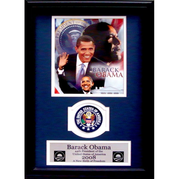 Barack Obama Collage Commemorative Presidential Patch Frame