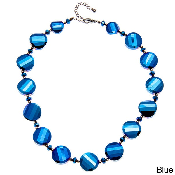 Alexa Starr Metallic Faceted Chip Necklace