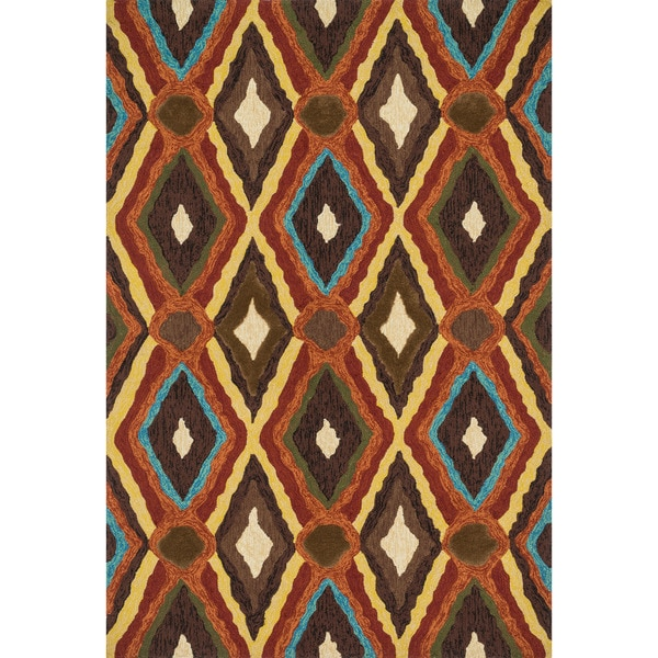 Hand-tufted Portia Indoor/ Outdoor Brown Rug (2'3 x 3'9)