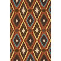 Hand-tufted Portia Indoor/ Outdoor Brown Rug - 2'3 x 3'9