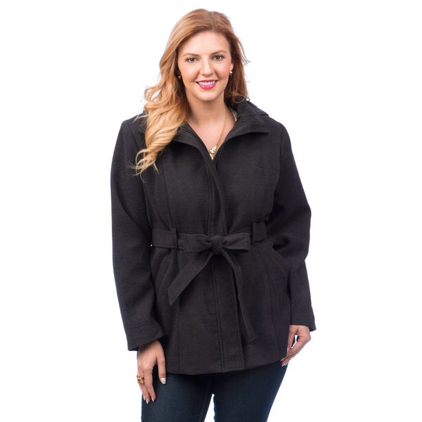 Belted Trench with Hood
