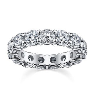 14k White Gold TDW Diamond Eternity Wedding Band (H-I, I1-I2)