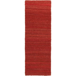 Artist's Loom Hand-woven Contemporary Solid Natural Eco-friendly Jute Rug (2'6x7'6)