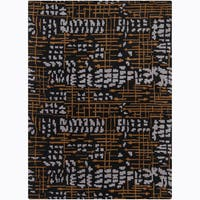 Artist's Loom Hand-tufted Contemporary Abstract Wool Rug - 9' x 13'