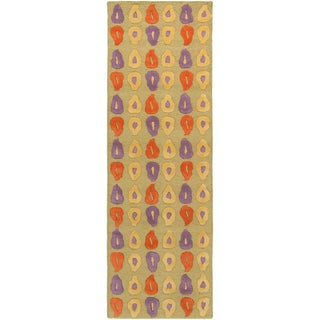 Artist's Loom Hand-tufted Contemporary Abstract Wool Rug (2'6x7'6)