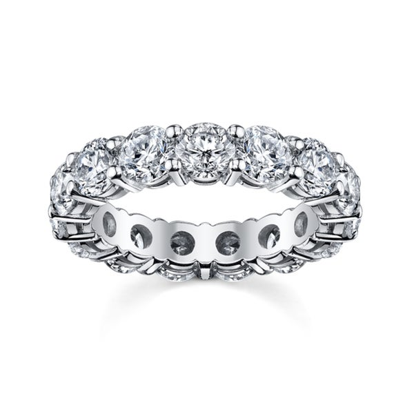 14k White Gold 4ct TDW Diamond Eternity Wedding Band