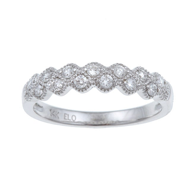Eloquence 14k White Gold 1/4ct TDW Diamond Ring