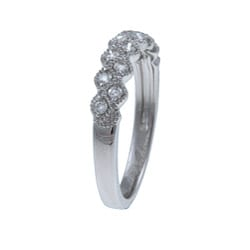 Eloquence 14k White Gold 1/4ct TDW Diamond Ring - Thumbnail 1