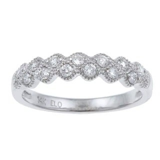 Eloquence 14k White Gold 1/4ct TDW Diamond Ring (More options available)