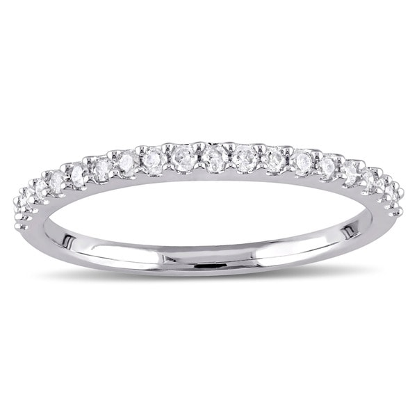 Miadora 10k Gold 1/ 5ct TDW Diamond Stackable Wedding Band
