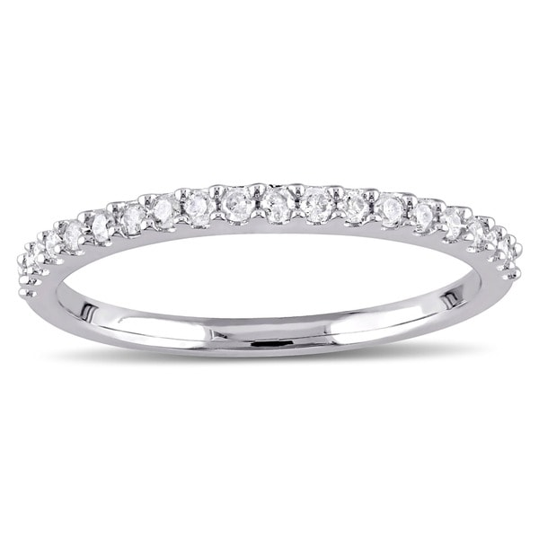 Miadora 10k Gold 1/5ct TDW Diamond Semi-eternity Wedding Band