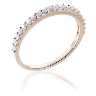 Miadora 10k Gold 1/ 5ct TDW Diamond Semi-eternity Wedding Band (H-I, I2-I3)