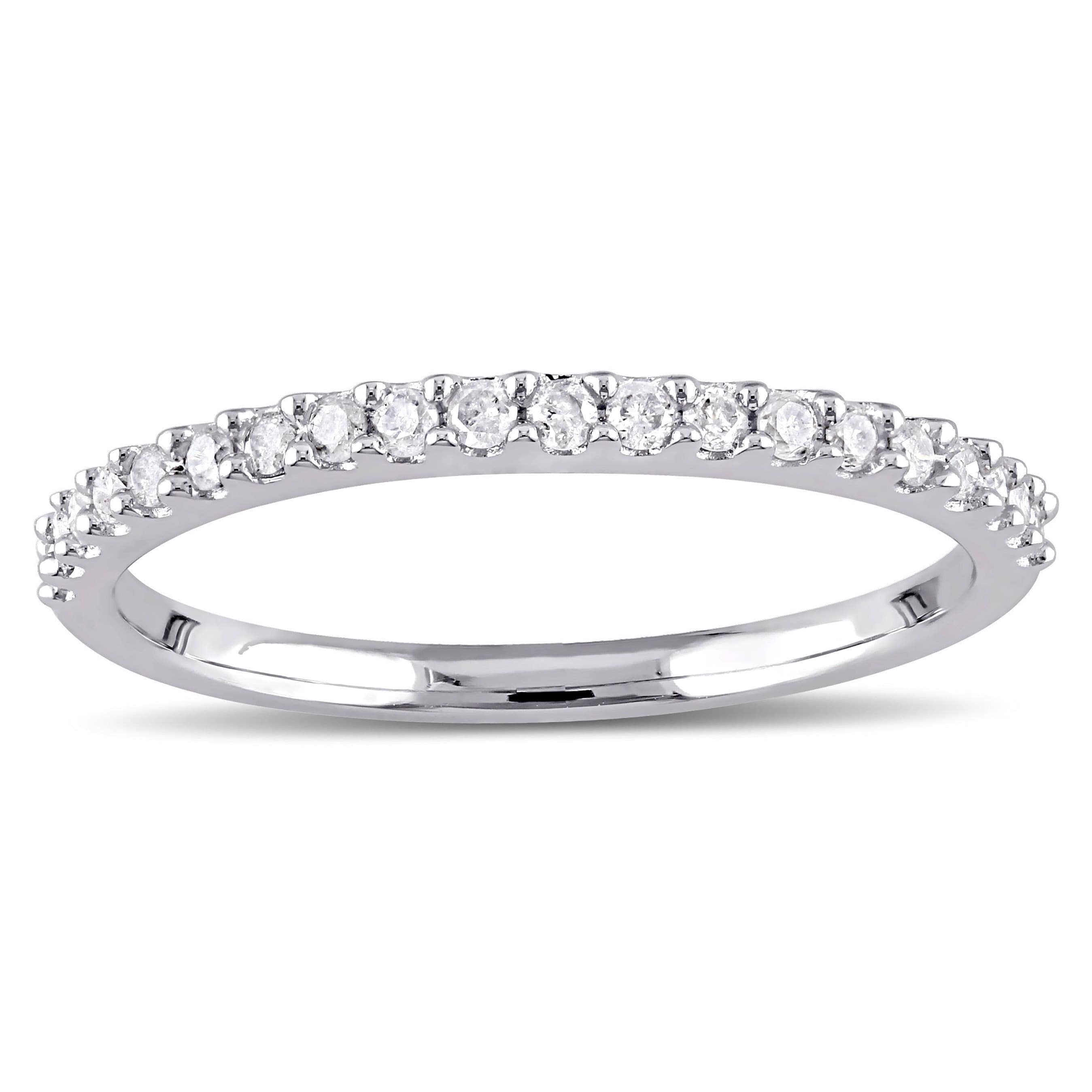 Stackable Wedding Bands.Miadora 10k White Gold 1 5ct Tdw Diamond Stackable Wedding Band