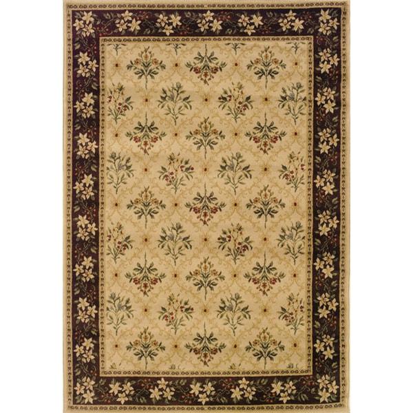 Indoor Beige/ Brown Traditional Area Rug (9' 10 x 12' 9)