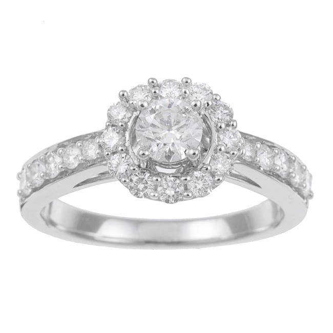 14k White Gold 1ct TDW Certified Diamond Engagement Ring (F-G, I1-I2)