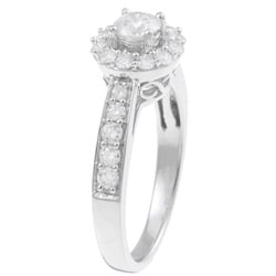 14k White Gold 1ct TDW Certified Diamond Engagement Ring (F-G, I1-I2) - Thumbnail 1