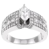 Eloquence 14k White Gold 1 1/2ct TDW Diamond Engagement Ring