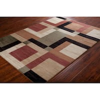 Artist's Loom Indoor Contemporary Geometric Rug (7'10 x 10'6)