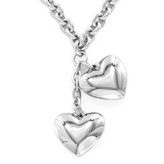 ELYA Stainless Steel Dangling Hearts Necklace|https://ak1.ostkcdn.com/images/products/7310546/P14780855.jpg?impolicy=medium