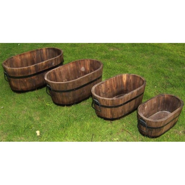 Oval Wooden Planters
