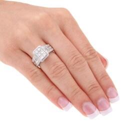 14k White Gold 2ct TDW Diamond Engagement Ring (H-I, I1-I2) - Thumbnail 2