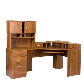 Reversible Corner Workcenter with Hutch