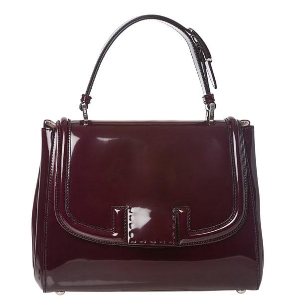 Fendi 'Silvana' Plum Patent Leather Satchel