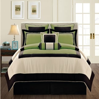 Gramercy Queen-size 12 Piece Olive Bed in a Bag with Sheet Set (3 options available)